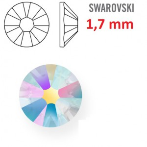 Kamínek na zuby a řasy - 1 ks kamínek na zuby Swarovski duhový 1,7mm
