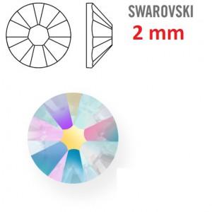 Kamínek na zuby a řasy - 1 ks kamínek na zuby Swarovski duhový 2 mm