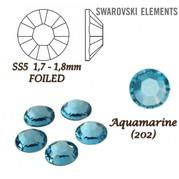 Kamínek Swarovski světle modrý 2mm