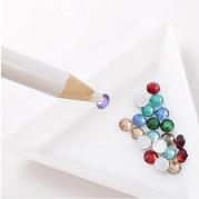 Tužka na nabírání kamínku bílá