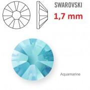 1 ks kamínek na zuby Swarovski aquamarin 1,7mm