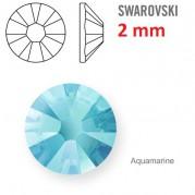1 ks kamínek na zuby Swarovski aquamarin 2 mm