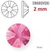 1 ks kamínek na zuby Swarovski růžový 2 mm