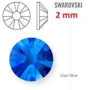 50 ks kamínek na zuby Swarovski tm. modrý 2 mm