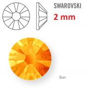 50 ks kamínek na zuby Swarovski oranžový 2 mm