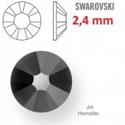 1 ks kamínek na zuby Swarovski Jet 2,4 mm